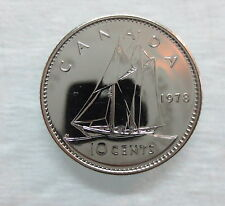 1978 CANADA 10 CENTS PROOF-LIKE DIME COIN