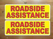 ROADSIDE ASSISTANCE Magnetic sign 4 car Truck Car Van SUV Highway DOT Tow Truck