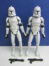 2 star wars CLONE TROOPER ACTION FIGURE animated clone wars cw HASBRO 2008 1629