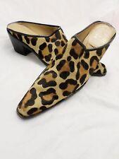 STUART WEITZMAN leopard pony calf hair boots booties mules clogs 7N