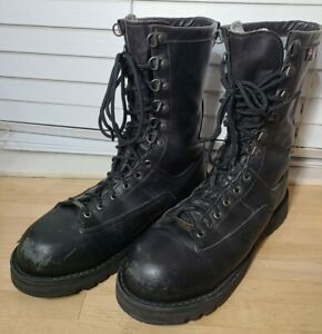 Danner Fort Lewis 600g Gtx Safety Toe Black Leather Boots 23705 Gore-Tex 12D