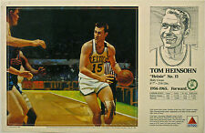 Tom Heinsohn CELTICS 1990 Boston Celtics Basketball CITGO poster Mike Wimmer art