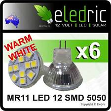 LED MR11 WARM WHITE LED Light Replacement Boat Yacht Caravan Camper 4x4 RV 9-30V