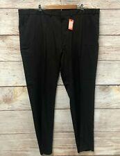 Dockers Signature Dress Pants Mens 46X34 Black Flat Slim Fit Stretch Waist New