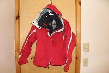 Solstice Women's red, black and white brand coat in great condition size med.