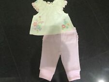 Juicy Couture New & Genuine Baby Girls Two Piece Cream/Pink Set Age 0/3 MTHS