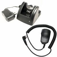 Charger & Shoulder Speaker Mic for Motorola PR400
