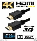 2M *Premium* HDMI V2.0 Gold Cable *High Speed+Ethernet* 4k x 2k Res,