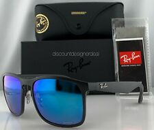 Ray-Ban RB4264CH Sunglasses 601SA1 Matte Black Blue Mirror POLARIZED Large 58mm