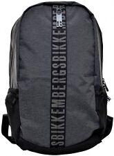 Zaino Uomo Donna Bikkembergs Backpack Men Woman Db-Zip BackPack Grey Melange D48