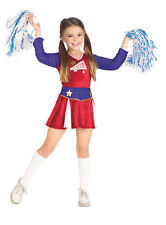 DELUXE CHEERLEADER GIRLS HALLOWEEN COSTUME CHILD SIZE SMALL 4-6