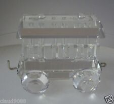 SWAROVSKI SILVER CRYSTAL 1988 WAGON CARRIAGE -VERSION 1  015150 MINT IN BOX