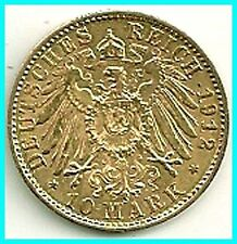 GERMANY - 1912 - A - GOLD 10 MARK - PREUSSEN  EX.FINE !! ,