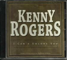 KENNY ROGERS I can't Unlove You USA  PROMO Radio DJ CD Single w/ PRINTED LYRICS