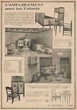 J0633 Mobili per bambini PRINTEMPS - Parigi - Pubblicità d'epoca - 1922 Old ad