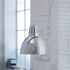 Wofi Pendelleuchte Deventer 1-flg Chrom Industrie Look ø23 cm dimmbar E27 Lampe