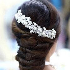 Hochzeit Braut Haarschmuck Perlen Strass Haarband Haargesteck