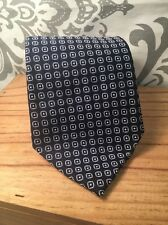 TOMMY HILFIGER Men's Silk Tie Slotted Polka Dot Blue #386