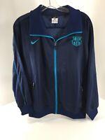 Nike Mens FCB BARCA Italian Sport Design Track Jacket Navy/teal Large NWT=