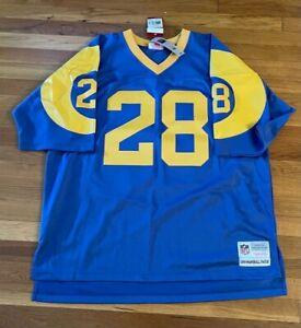 Marshall Faulk Mitchell & Ness Semi-pro Jersey/NWT/Size 52 (2XL) L.A. Rams