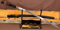 JAPANESE SAMURAI SWORD KATANA SHARP BATTLE READY FOLDED STEEL CLAY TEMPERED