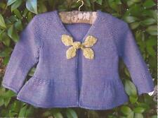 EVE'S LEAVES Tree Knitter Designs Knitting Pattern Top Down Cardigan 18mo-6yr