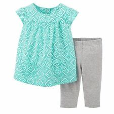 Carter's Geometric Toddler Girl's Top & Leggings Set - 2T - NWT - FREE SHIPPING