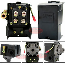 Air Compressor Pressure Switch Control Valve 95 125 Psi 4 Port On Off Lever