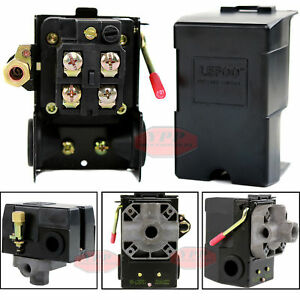 Air Compressor Pressure Switch Control Valve 95-125 PSI 4 Port On Off Lever