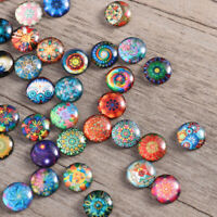 200Pcs Rosenice Mosaic Tiles 12mm Mixed Round for Crafts Glass Supplies