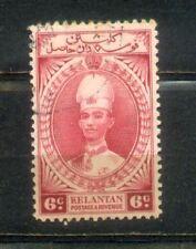1937 Malaya Malaysia  Kelantan 6c Used. CV Rm 30