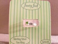 Fancy Feet Sterling Silver Toe Ring w/ Green Bling, *NEW* Stocking Stuffer!