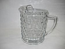 Fostoria Clear Cube Pitcher Glass Heavy Thick Sturdy Mid Century Cool Ships Free