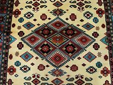 Classic Designed Rectangle Area Rug Hand Knotted Wool Silk Carpet