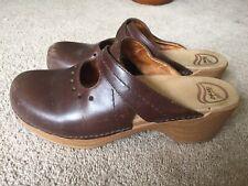 Dansko Brown Mary Jane Clogs 40 8.5-9 Shoes