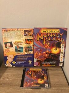 THE CURSE OF MONKEY ISLAND 3 BIG BOX PC COMPLETO 100% LUCASARTS