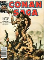 MARVEL COMICS VARIOUS CONAN MAGAZINES CONAN SAGA AND THE SAVAGE SWORD OF CONAN