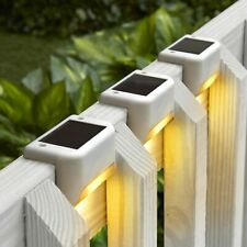 8Pcs Solar Deck Lights - Outdoor Path Garden StairsStep Fence Lamp White New Us