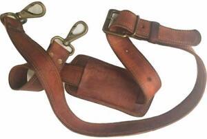 "48"" Long Replacement Bag Strap Brown  Gold Hardware Genuine Leather Shoulder Bag"