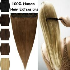 Top One Piece Clip in Remy Human Hair Extensions Full Head Weft EP Highlight US