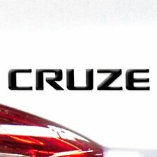 """GM Black Chevrolet """"Cruze"""" Nameplate Fits ANY Cruze OEM Accessory Free Shipping"""