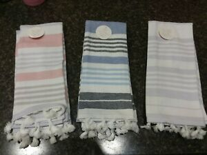 """New Yarn-dyed Hand Towel 2/pc. Sets 14"""" X 24"""" Color- Light assorted colors"""