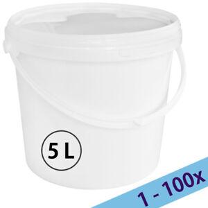 Plastique seaux Baignoires avec couvercle PREV usage alimentaire 10 l rond 15 L Rectangle lavé VG