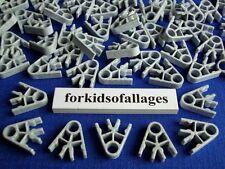 100 KNEX LIGHT GRAY GRANITE 2-Position CONNECTORS Speckled Standard Parts/Pieces