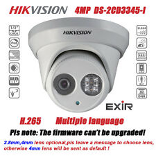 Hikvision DS-2CD3345-I 4MP EXIR Turret IR IP66 Outdoor POE Dome Network Camera