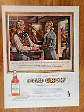 1958 Old Crow Whiskey Ad Henry Clay Stops for a Barrel