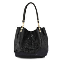 Womens Hobo Bag Ladies 3 Compartment Handbag Snake Skin Patent Leather New In