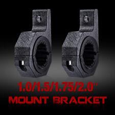 """2Pcs 2"""" 25mm-51mm Bullbar Tube Roll Mount Bracket Clamp LED Light Bar HID Holder"""