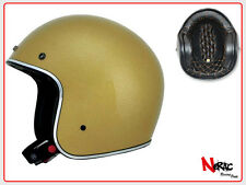 AFX FX 76 CASCO MOTO CAFE RACER CUSTOM VINTAGE HELMETH CHOPPER GOLD METAL FLAKE