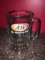 """Vintage A&W Root Beer  Heavy Glass Mug Cup Stein 6"""""""